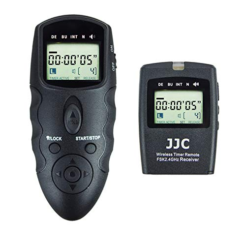 JJC Wireless Intervalometer Timer Remote Control Shutter Release for Canon EOS R5 5D Mark IV III II 6D Mark II 7D Mark II 5Ds R 1Dx Mark III II 1Ds Mark III II 50D 40D 30D 20D and More Canon Camera