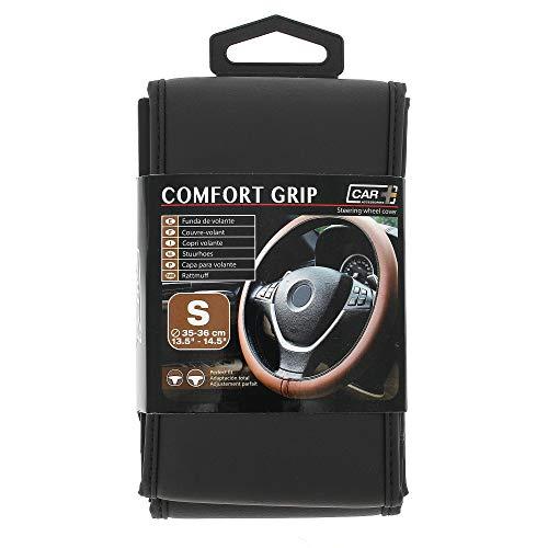 Sumex Couvre Volant Simili Cuir Noir Car+ pour Volant 35/36cm