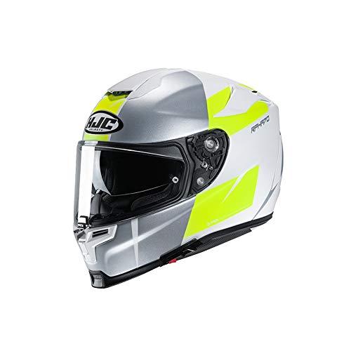 Motorradhelm HJC RPHA 70 TERIKA MC4HSF, Weiss/Grau/Gelb, XL