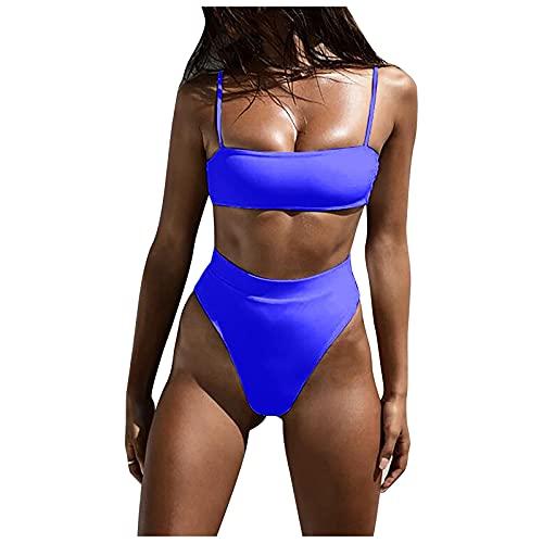 VODMXYGG Moda Sexy Bikini Señoras de Tres Puntos de Color sólido Conjunto de Traje de baño de baño Adecuado Viajes Playa 0916623