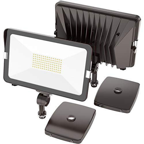 HYPERLITE 2 Pack 30W LED Flood Light Outdoor with Knuckle Mount, Wall Mount 5000K 3,300Lm IP65 Waterproof LED Security Lights for Yard Garden Garage UL Listed