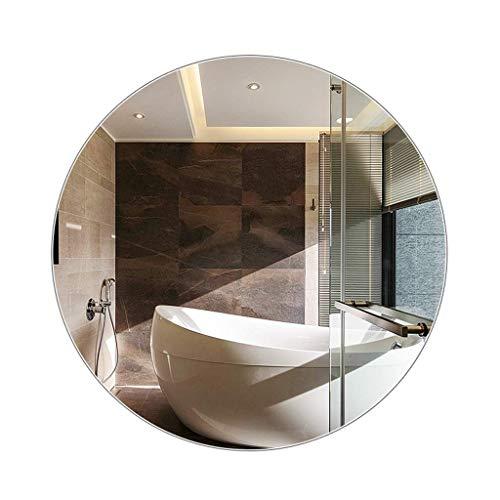 Household Necessities/ronde spiegel zonder lijst, badkamerspiegel ingangspiegel spiegel spiegel rond 60*60*8CM zilver.