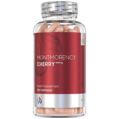 High Strength Montmorency Cherry Capsules - 3000mg (45 Day Supplement) - Natural Sleep Support, Acerola Cherry & Vitamin C for Immune System, Powder Extract Night Remedy, Vegan & Keto Friendly Pills