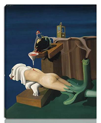 Berkin Arts Oscar Dominguez Estirado Giclee Imprimir en Lienzo-Pinturas Famosas Arte Fino Póster-Reproducción Decoración de Pared Listo para Colgar(Máquina de Coser Electro Sexual) #NK