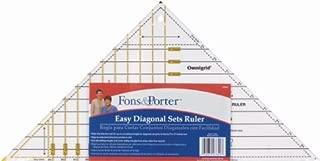 Fons & Porter 3-to-12-Inch Easy Diagonal Sets Ruler by Fons & Porter