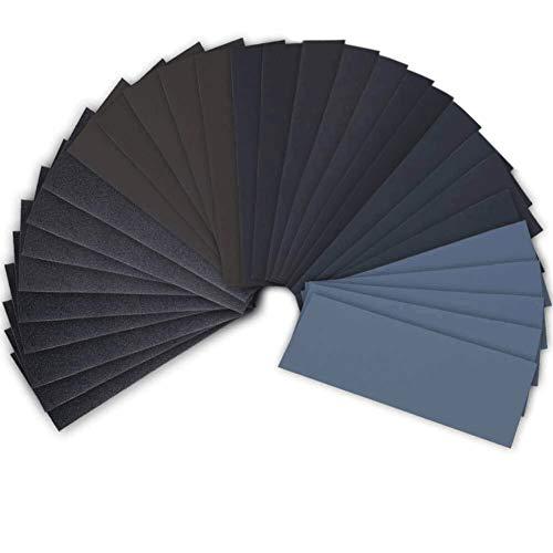 42 Stück nass trocken Schleifpapier 120 bis 3000 Grit Sortiment 9 * 3 6 Zoll