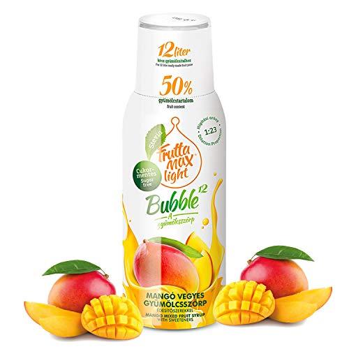 Light Low-Carb Fitness-Sirup von Frutta Max Getränkesirup | Ohne-Zucker | mit Stevia | 50% Fruchtanteil 500ml (Mango)