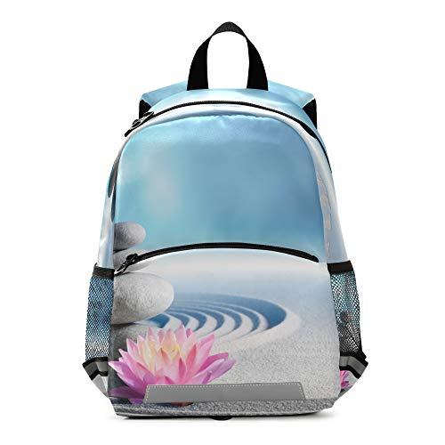 RELEESSS Spa Zen Stone Flower Mochila para niños con correa en el pecho, mochila escolar para preescolar, mochila para niños y niñas