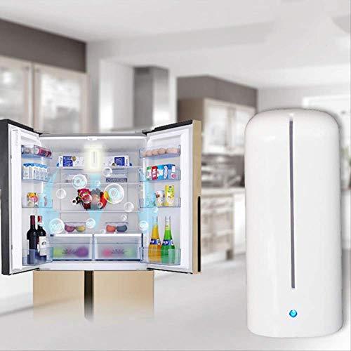 CPAZTRecargable Oxígeno Activado Ozonizador de Aire USB Purificador de Aire Desodorizador casero Generador de ionizador de ozono Desodorizador Fresco NeveraBlanco
