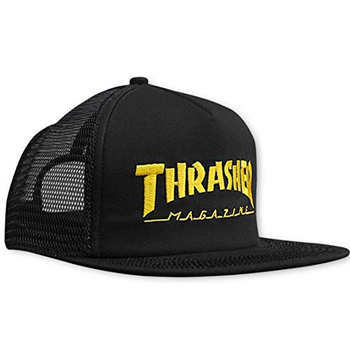 GORRA THRASHER MAG LOGO MESH EMB BLACK YELLOW