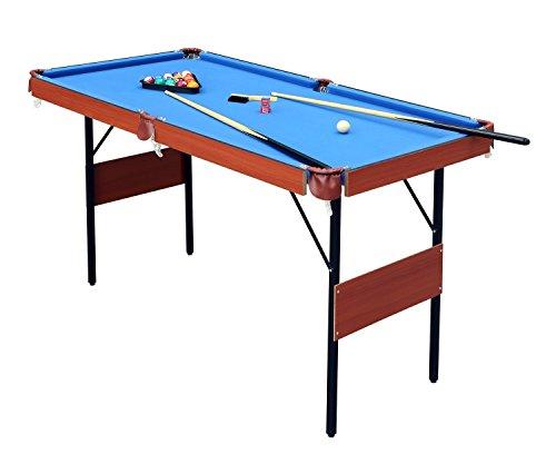 hlc Mesa de Billar Snooker (139.5 * 74.7 * 80 cm) Tapizado Azul,Ideal para la Familia !