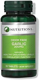 Nutritionl Odor Free Garlic 200 mg 30 Tablets