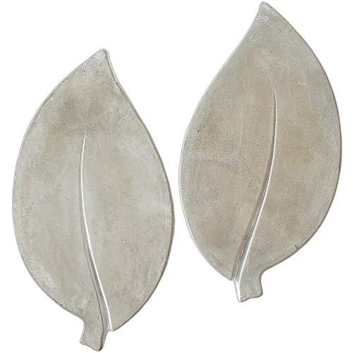 matches21 XXL Trittsteine große Blätter Blatt-Form 2 Paar (4 STK.) Tritt-Steine Beton Garten 35x18 cm dekorative Tretsteine