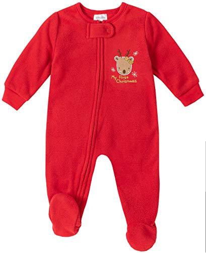 Absorba Baby-Mädchen Sleeper Schlafanzug, rubinrot, 3-6 Monate