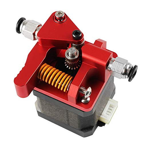 3D Printer Extruder Upgraded Metal Adapter Dual Drive Extrusion Kit for MK8 3D Printer Accessories Red