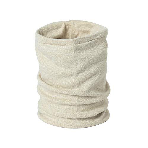 Bufanda Bufandas Unisex De Invierno Suaves Anillos Cálidos para El Cuello para Mujer Bufandas De Señora Alta Elasticidad Hombre-Beige