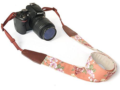 Alled Tracolle per Macchine Fotografiche,Cinghia Fotocamera Bohemia Vintage Spalla Cinghia Reflex per DSLR SLR Nikon Canon Sony Lumix Olympus Samsung Pentax Fujifilm Universale (Cowboy Arancia)