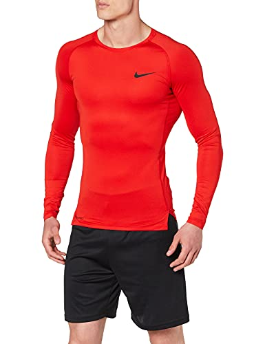 Nike Herren M NP TOP LS Tight Long Sleeved T-Shirt, University red/(Black), XL