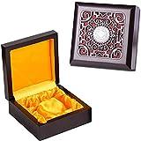 Caja de almacenamiento de madera, Cofre del tesoro decorativo de Memorial, recuerdo, joyería y caja de regalo