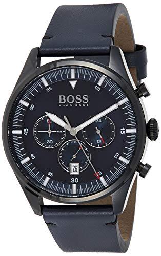 Hugo BOSS Reloj Analógico para Hombre de Cuarzo con Correa en Cuero 1513711