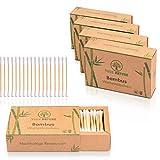 DERMATEST: SEHR GUT - TRUE NATURE® [1000 Stück] Bambus Wattestäbchen - Plastikfreie Ohrenstäbchen - Q Tips ohne Plastik - Cotton Buds - 100% biologisch abbaubar +Ebook