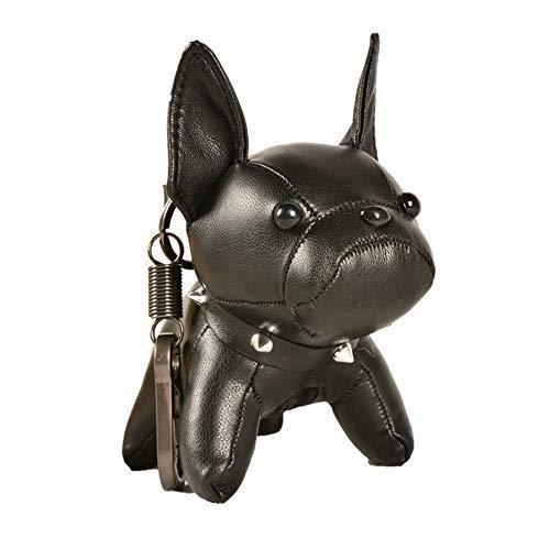 Llavero con diseño de bulldog francés para hombres y mujeres, bonito llavero para parejas
