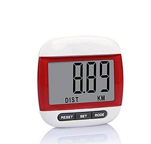 Domire Multifunktionaler Schrittzähler mit LCD-Display/Schritt Zählen/Distanz und Kalorienzähler Funktion mit Gürtelclip