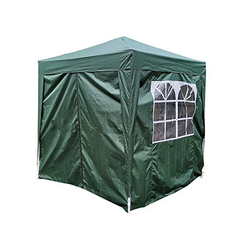 WESTHL Pop Up Gazebo,Waterproof Garden Gazebo Marquee Awning Party Tent Canopy with Side Panels (2.0x2.0m, Green)