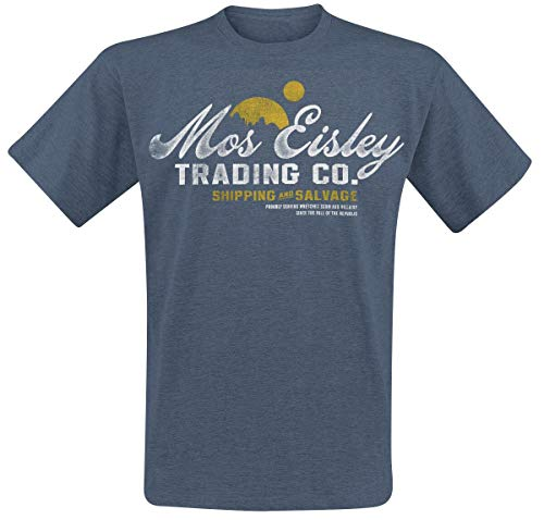 Star Wars Mos Eisley Trading Camiseta Azul jaspe