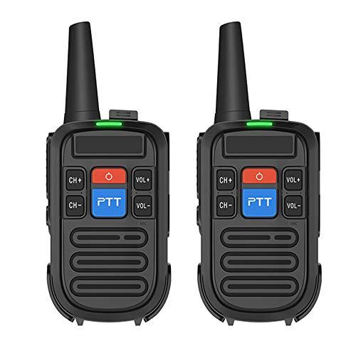 HGFDSA Mini Walkie Talkie Professionale, Radio Portatile Bidirezionale Doppio Pulsante Ptt Doppio con Caricatore USB 16 Canali per Comunicazione Escursionismo Bambini Adulti (Confezione da 2)