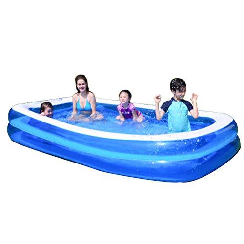 Planschbecken Für Kinder Aufblasbarer Pool Garten Wasserspiele Schwimmbad Oberirdischer Pool Für Außen- Und Gartenblau