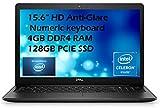 Dell 2021 Flagship Inspiron 15 3583 Laptop 15.6' HD Anti-Glare Display Intel Pentium Gold 5405U 4GB DDR4 128GB SSD PCIE Intel UHD Graphics 610 HDMI Webcam Win 10 Home with E.S Holiday32GB USB Card