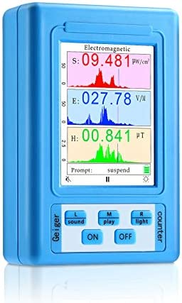 EMF Meter Electromagnetic Field Radiation Detector Handheld Digital LCD EMF Detector Display product image
