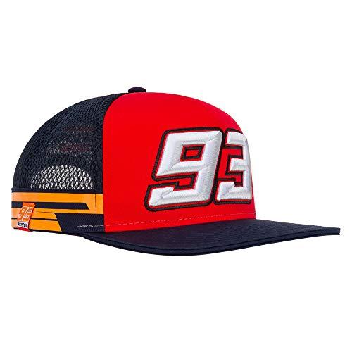 Gorra Oficial de Marc Márquez #93 para Camionero de Visera Plana Repsol Honda