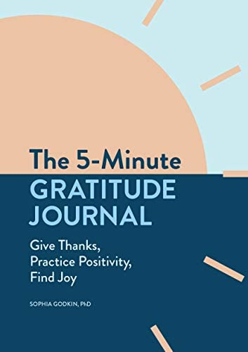 The 5 Minute Gratitude Journal Give Thanks Practice Positivity Find Joy product image