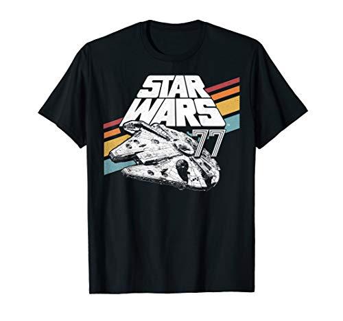 Star Wars Millennium Falcon '77 Retro Stripes Poster T-Shirt