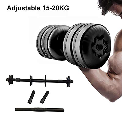 Water Filled Dumbbells for Travel,Fitness Dumbbells,2 Pack Water Bottle Dumbbells,Portable Travel Dumbbells for Free Weights Set for Muscle Toning, Strength Building,20kg