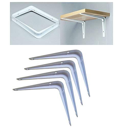 CHUDAN 4 Stück L-Form Regalträger Edelstahl Tablarträger Regalkonsole Wandregal - Deko Regal Unterstützung mit Schrauben ZubehöR, Tragfähigkeit bis zu 180 kg (4 Größen),6in