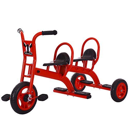 CXQWAN Triciclo Passeggino, Bicicletta Tandem, Triciclo per Bambini con Design del Pedale del Piede Posteriore per l'esercizio dell'equilibrio e dell'esercizio del Bambino