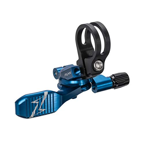 Funn UpDown Mountain Bike Dropper Seatpost Remote Lever with Smooth Action, Easy-to-use, 4-Way Mount, Full CNC Finish, Lightweight and Stiff (Blue)