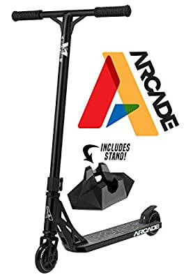 Arcade Pro Scooters - Stunt Scooter for Kids Best Trick Scooter for BMX Freestyle Tricks (Black/Black)