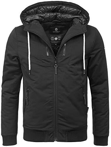 Navahoo Herren Winter Jacke leichte sportliche Jacke robust wasserabweisend Winddicht B623 [B623-Hunter-Schwarz-Gr.XL]