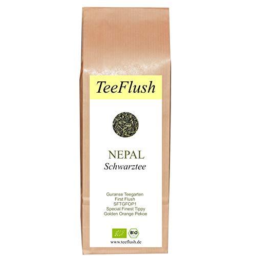 Schwarzer Tee Nepal, First Flush, SFTGFOP1, Bio, lose, 100g, Guranse Teegarten, Geschmack: spritzig-blumig