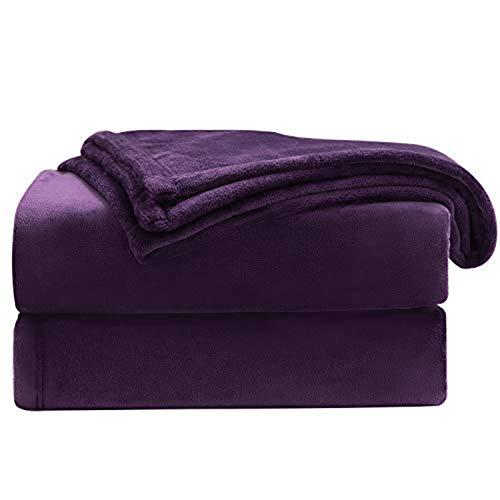 BEDSURE Kuscheldecke Violett kleine Decke Sofa, weiche& warme Fleecedecke als Sofadecke/Couchdecke, kuschel Wohndecken Kuscheldecken, 130x150 cm extra flaushig und plüsch Sofaüberwurf Decke