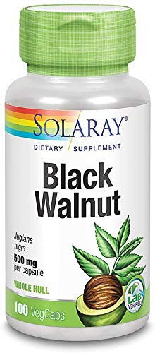 Nogal Negro (Black Walnut Hull) 100 cápsulas de 500 mg de Solaray