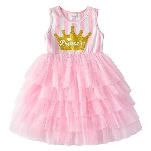 VIKITA Mädchen Kleider Sommerkleid Blume Baumwolle Lässige Kinderkleidung Gr.92-128 SH4882 7T