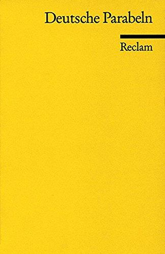 Deutsche Parabeln (Reclams Universal-Bibliothek)