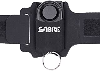 SABRE 130dB Personal Alarm for Runners – Piercing Siren with Adjustable, Reflective and Weather-Resistant Wrist Strap, Audible 1,000 Feet (300M) Range – Personal Safety for Women, Men, Seniors