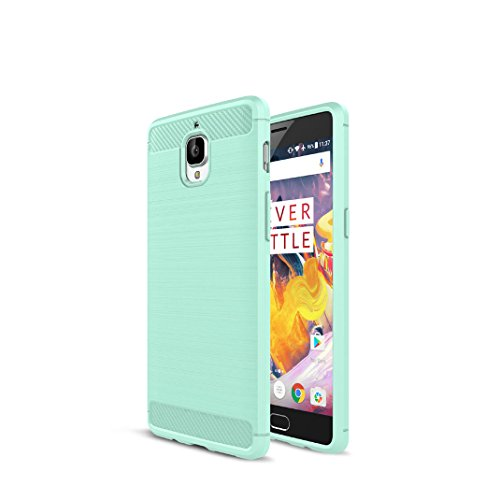 Litastore One Plus 3 Custodia, Protettiva Case Cover Custodia in Silicone per One Plus 3 - Verde