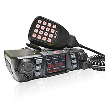 BTECH Mobile GMRS-50X1 50 Watt GMRS Two-Way Radio GMRS Repeater Capable with Dual Band Scanning Receiver  136-174.99MHz  VHF  400-520.99MHz  UHF